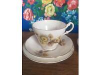Royal Ascot brown autumnal floral china