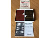 "Vintage ""Scottish Historical"" playing cards - very rare!"