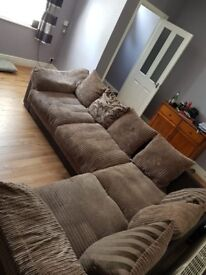 Excellent Condition. DFS corner group. Was £1800 new. Large comfy sofa.