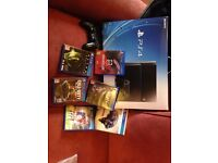PlayStation 4 500gb 2 controllers 6 games boxed and all complete