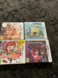 4 x Nintendo 3ds games