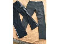Mens jeans and adidas joggers bundle
