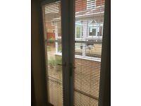 Patio door perfect for blinds