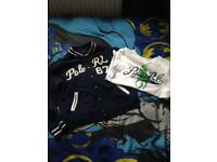 Genuine Ralph Lauren baseball jacket and t shirt 6 years