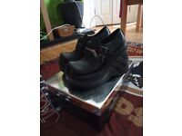 Brand New Size 6 New Rock Heeled Shoes . Black
