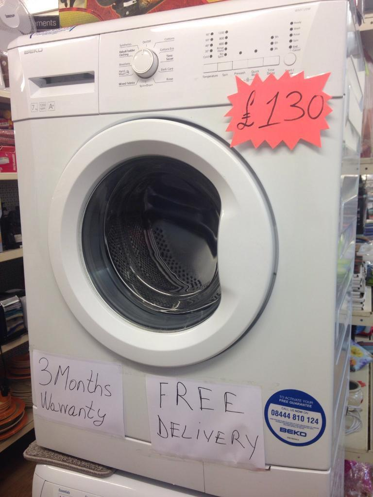 7 kilos Beko washer now only 130 £ free delivery and 3 months warranty included in price !