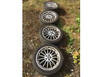 "5 stud VW 17"" Alloy Wheels Deep Dish Multispoke Rims to fit 5x100 pcd cars, Vw Golf, Beetle, audi A3"