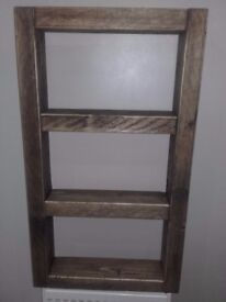 Rustic Industrial Chunky Shelf Unit.