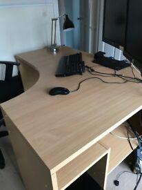 Corner Office Desk with built in shelves