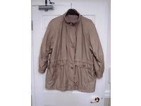 C&A beige winter coat size 18