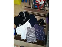 Bundle of womens clothes and shoes 9 items