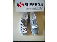 Superga 2950 Cotu Trainers Grey Sage Size 6.5 Brand new with Box