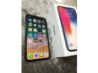 Iphone x 64gb unlocked to all networks cracked screen