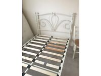 Cream metal 3/4 small double bed frame