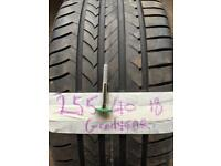 Goodyear efficient grip 255 40 18 RUN FLAT BMW TYRE