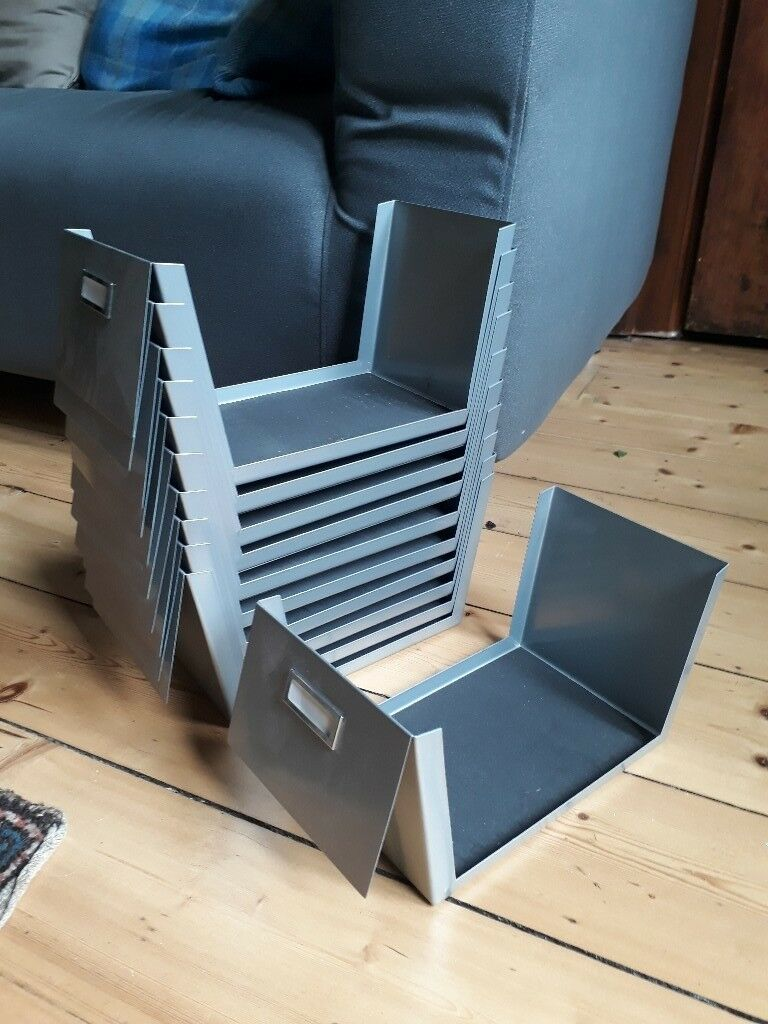 Ikea metal CD storage trays