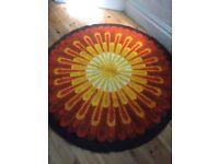 Retro sunburst rug