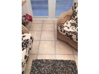 70 LAMINATE WOOD TILES, CLICK TOGETHER FOR EASY ASSEMBLY..GREAT CONDITION 1'X1' PER TILE