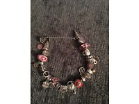 Genuine pandora bracelet (can sell separate charms) with 21 genuine charms