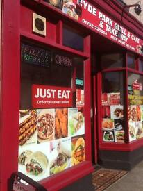 Pizza kebab & fish &chips takeaway for sale
