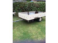 """Large trailer 6' 10"""" x 4' with spare wheel."""