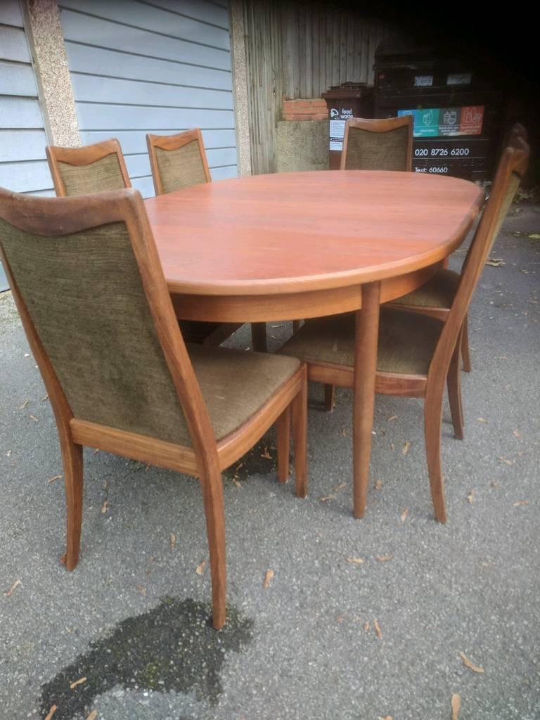 G Plan Teak Dining Table Six Chairs Mid Century Vintage Retro
