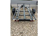 Three bike trailer with electrics fair condition