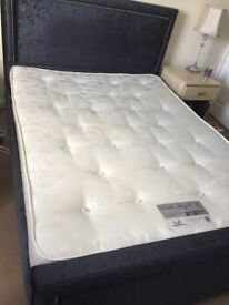 Superb like brand new black King size bed with great mattress