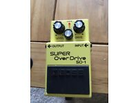 Boss Super Overdrive SD1 pedal for sale