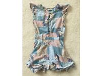 Girls NEXT Multi-Patterned Playsuit Age 8 Years