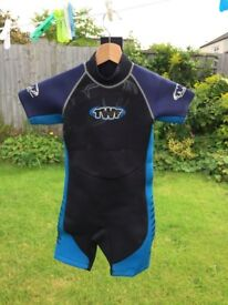 Child's short TWF wetsuit, suit age 7 - 10