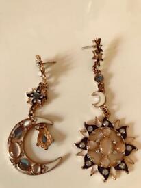 Korean Earrings Sun/Moon