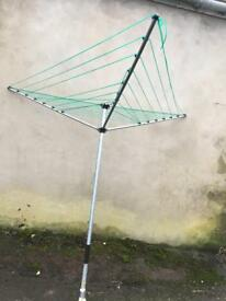 Rotary washing line - lightly used