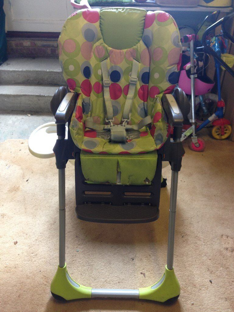 Chicco Polly Highchair 2-in-1 Green/multi colour