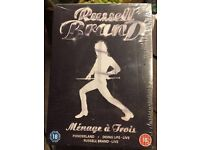 Russell brand DVD trio still in cellophane