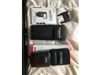 Canon 580ex II Speedlite Flash + 16x Rechargeable Batteries and Charger
