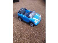 Childrens ride on Mini Cooper convertible