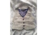 Baby boys Next tweed waistcoat 6-9months