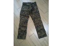 RST Motorcycle camo trousers. 38 w.