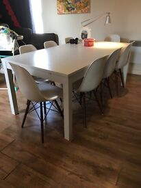 beautiful large white solid table to sell