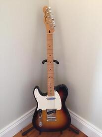 Left hand Fender Telecaster electric guitar