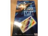 High Grade 3 hour blank video cassettes