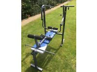 York fitness Bench with Dumbbell weights & others
