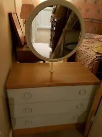 Retro vintage dressing table