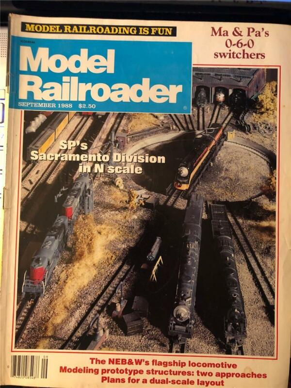 Model Railroader September 1988 SP N Scale Layout Balwin 0-6-0 Switcher Drawing