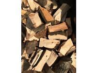 Hardwood firewood. Seasoned and chopped.