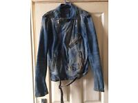 Diesel spring collection denim biker jacket