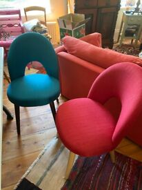 Four extremely comfortable dining chairs