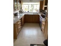 Complete kitchen with quartz worktops and appliances
