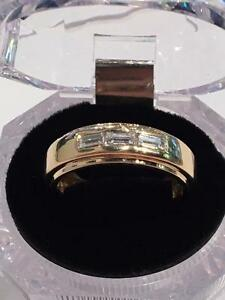 #1101 14K Y/G Mens Custom Diamond Ring